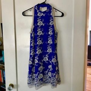 Lovers + Friends Dresses - Lovers + Friends Moonlit Dress in Marine Blue (XS)